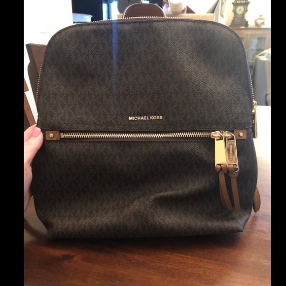 d7b89573a0e5 Michael Kors Bags | Rhea Medium Slim Logo Backpack | Poshmark